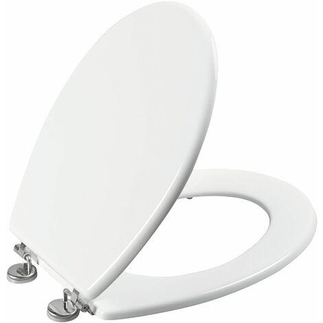 Abattant de toilette BOLIVA en HDF blanc