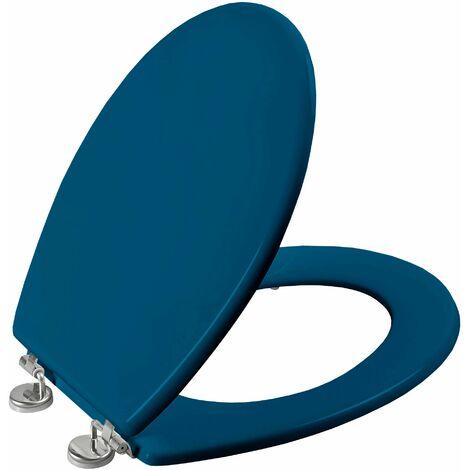 Abattant de toilette BOLIVA en HDF bleu canard