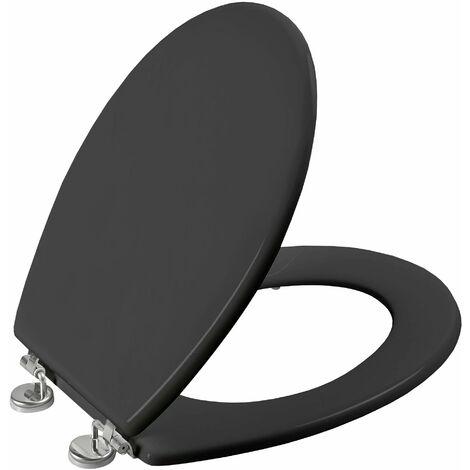 Abattant de toilette BOLIVA en HDF gris