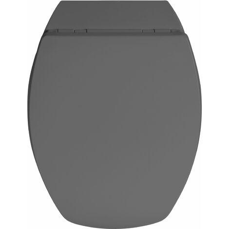 Abattant de toilette déclipsable BACCARA 2 gris