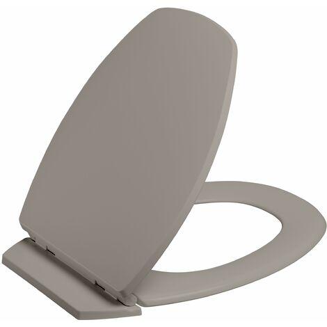 Abattant de toilette déclipsable BACCARA 2 taupe foncé