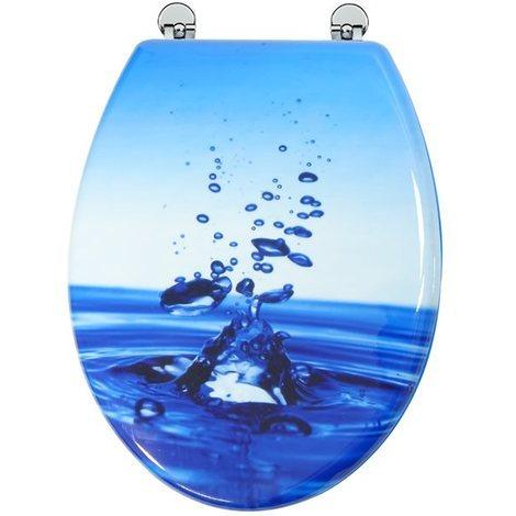 Abattant de toilette en bois compresse MDF Charniere metal Siege WC standard