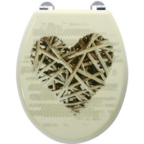Abattant de toilette en Bois compressé MDF Charnière métal Siege WC Universel