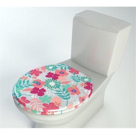 Abattant de toilette en bois compresse MDF Double frein chute ralentisseur et Charnière metal