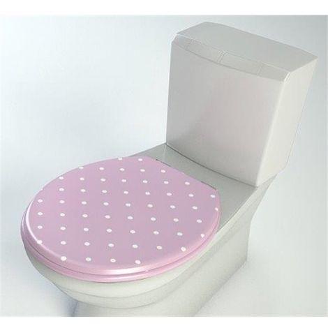 Abattant de toilette en bois compresse MDF ralentisseur Double frein chute Charnières metal