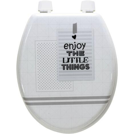 Abattant de toilette en Bois compressé MDF Siege WC Standard charnières inox