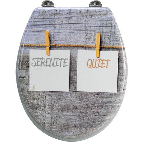 Abattant de toilette en bois compressé MDF zen serenite Siege WC standard