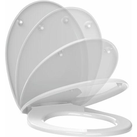 Abattant de toilette frein de chute MILOS en thermodur