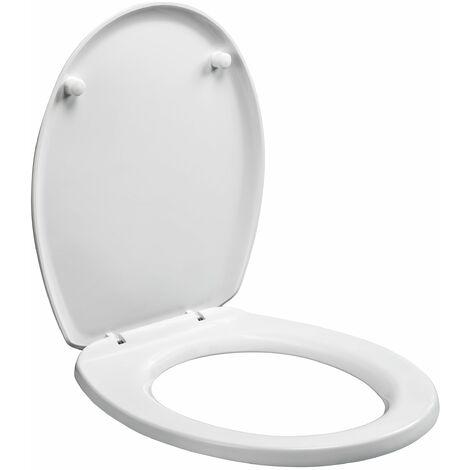 Mod/èle Princesse Abattant de WC avec fermeture amortie Couvercle de toilette avec motif et kit de montage