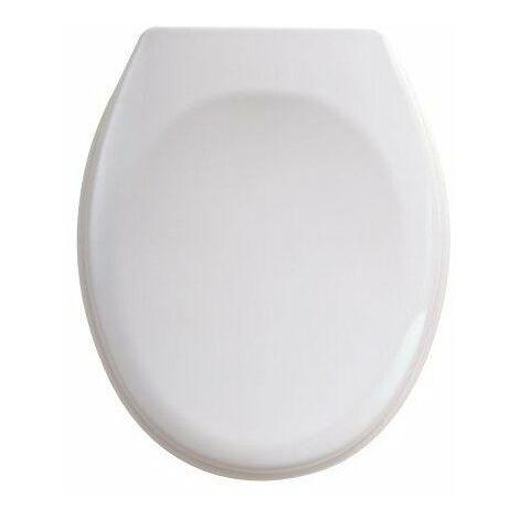 Abattant de WC double TISSOT PRO RD'2 - Descente manuelle - Blanc