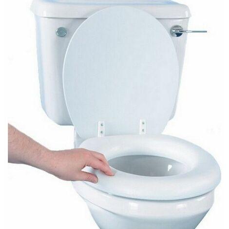 Abattant de WC rembourré - Non - Blanc