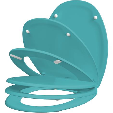 Abattant déclipsable et silencieux SERENITY 2 turquoise