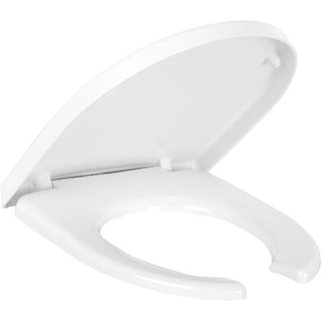 Abattant double antibactérien/anti-contact inox Blanc