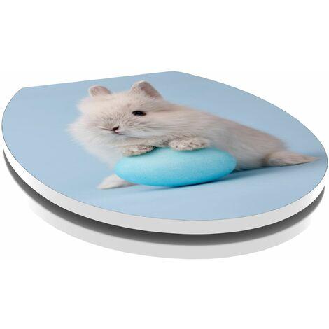 Abattant extra-plat décor Bunny