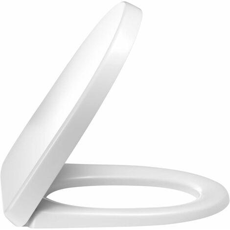 Abattant JACOB DELAFON ODEON UP Thermodur compact, charnieres metal blanc, Ref.E70009-00
