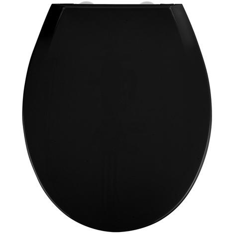 Abattant Kos coloris noir en Thermoplast - Dim : 37 x 44 cm -PEGANE-