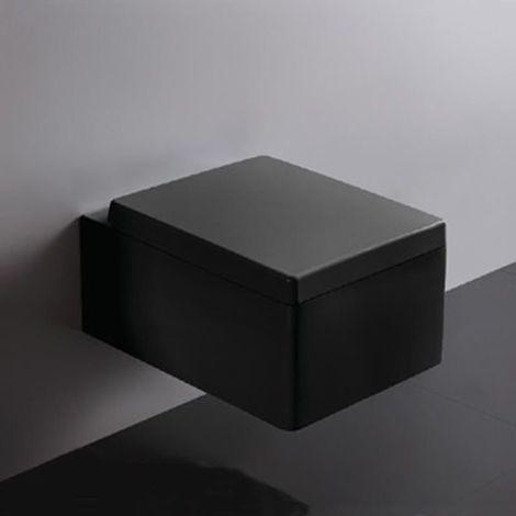 Abattant noir rectangulaire duroplastic - KUBE