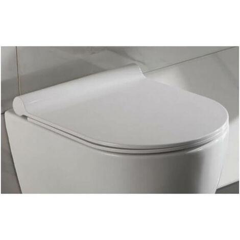 Abattant pour WC Design Suspendu Blanc type duroplastic - Cort