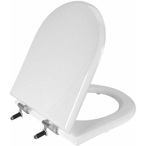 Abattant pour wc GALA MARINA blanc, fixation horizontale