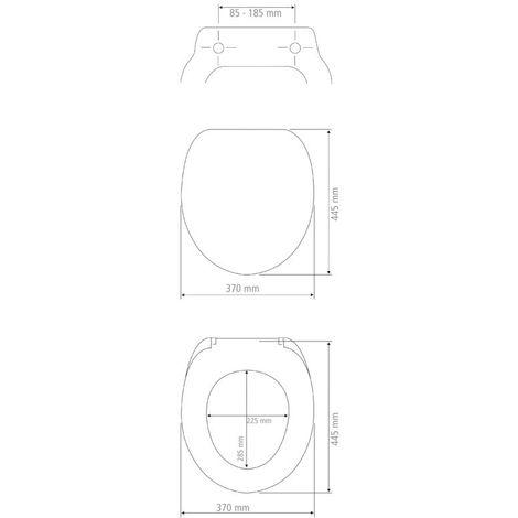 Abattant Rhombus, Easy Close Duroplast