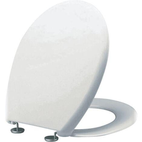 Abattant Uniform blanc 46,5X37 cm 2 charnières inox ALTERNA