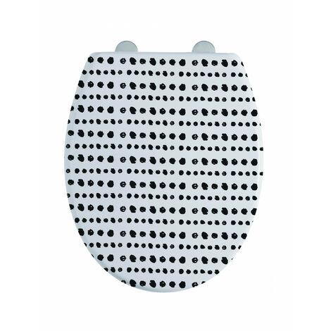 Abattant WC 44cm Plastique Thermodur Noir Gotam - Imprimé