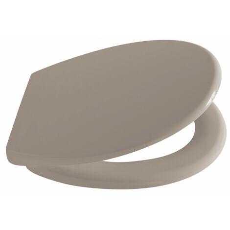 Abattant WC 44cm Plastique Thermodur Taupe Clip - Taupe