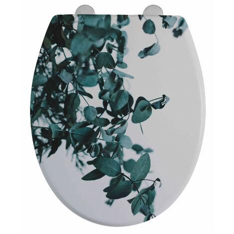Abattant WC 44cm Plastique Thermodur Vert Eucalyptus - Imprimé