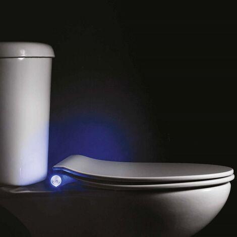 Abattant WC 45cm Plastique Thermodur Blanc Lumos Led - Blanc