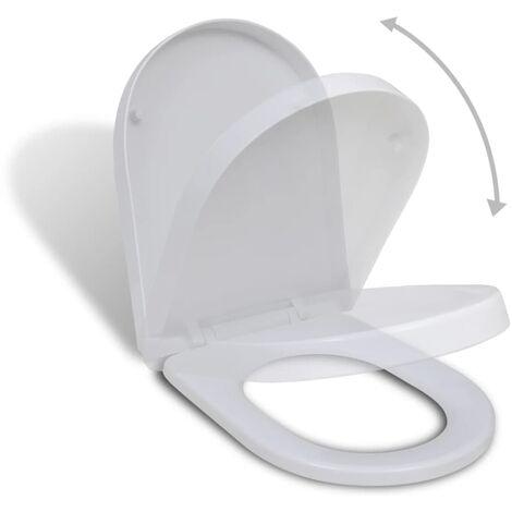 """main image of """"vidaXL Abattant WC à Fermeture en Douceur Siège de Toilette Lunette Cuvette Salle de Bain Restaurant Magasin Hôtel Maison Intérieur Ovale/Carré"""""""