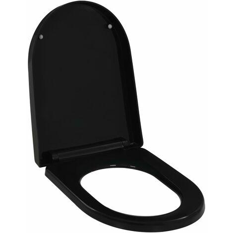 Abattant WC à fermeture en douceur Libération rapide Noir