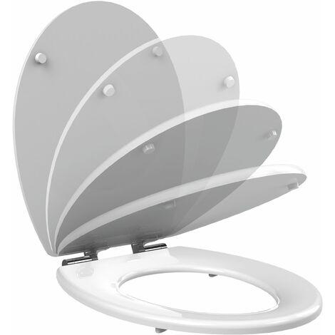 Abattant WC à fermeture progressive CILENTO blanc