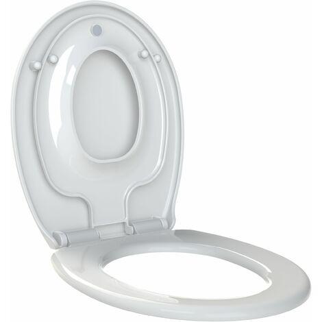 Abattant WC à fermeture progressive et réducteur enfant amovible KIDS Blanc