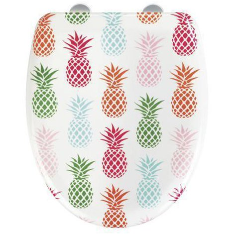Abattant WC Ananas en Duroplast - Dim : 38 x 45 x 10 cm -PEGANE-