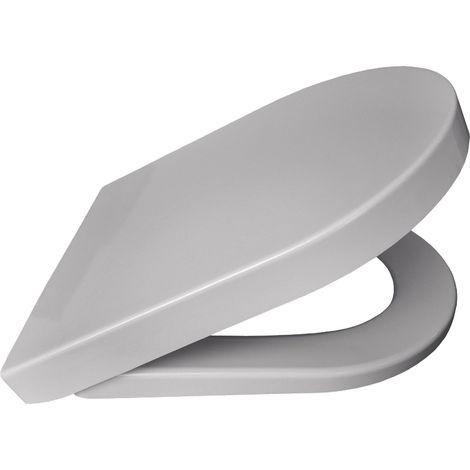 Abattant wc avec frein de chute duroplast serie VENO blanc 425 x 363 x 50 mm frein de chute Fixations ajustables (min 84 – max 178 mm) fixations en inox / Couleur: Blanc / Référence: *06915