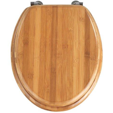 Abattant WC Bambou Dim : 34,5 x 41,5 cm