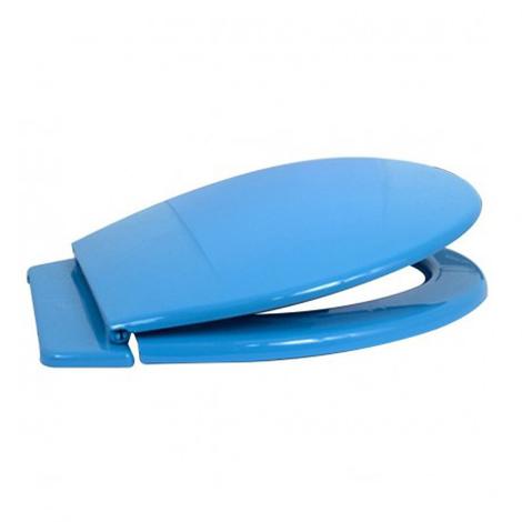Abattant WC bleu en PP D : 36 x 47 x 3 cm