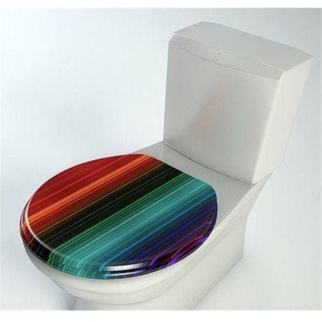 Abattant wc bois compresse MDF Toilette Double frein chute ralentisseur Charnières metal
