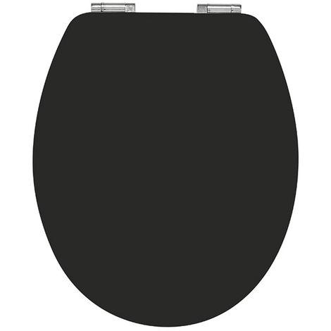 Abattant wc casual line black en bamboo - Dim : 37 X 48 cm -PEGANE-