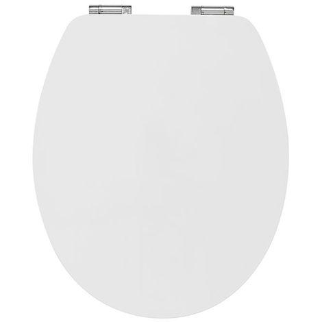 Abattant wc casual line White en bamboo - Dim : 37 X 48 cm -PEGANE-