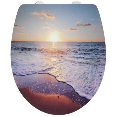 Abattant WC coucher de soleil - Dim : 39 x 46 cm -PEGANE-