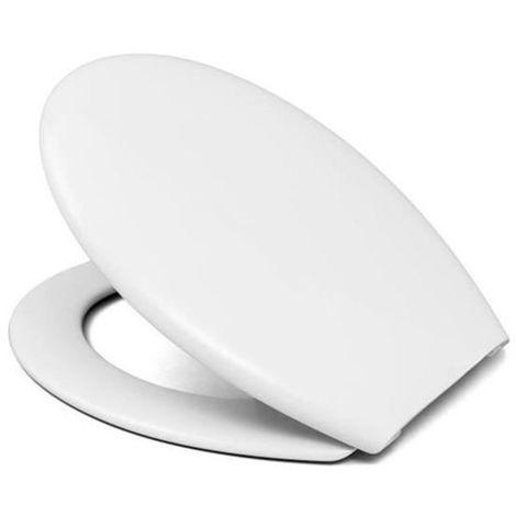 Abattant WC de toilette Blanc CLIPS charnieres declipsales antibacterien