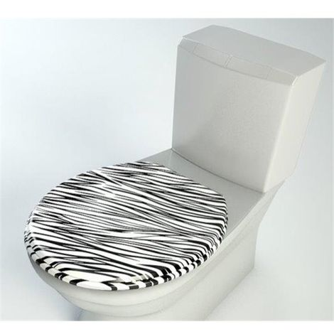 Abattant WC de toilette bois compresse MDF Double frein chute ralentisseur et Charnière metal
