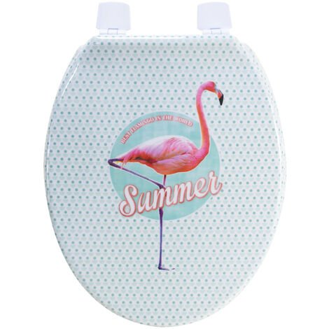 Abattant wc de Toilette plastique Duroplast Flamand rose