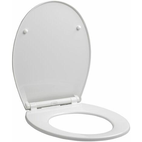Abattant WC déclipsable à fermeture progressive MILA blanc