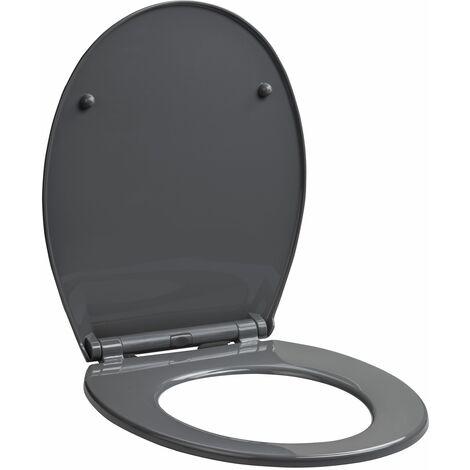 Abattant WC déclipsable à fermeture progressive MILA gris