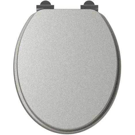 Abattant WC design SILVER - Gris - Gris