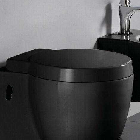Abattant WC Design Suspendu Noir en duroplastic - Charm