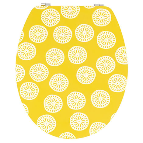 Abattant wc diplomat lemon - Dim : 37 X 48 cm -PEGANE-