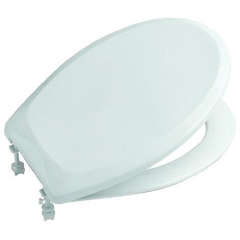 Abattant WC double Victoria - résine thermodur blanc